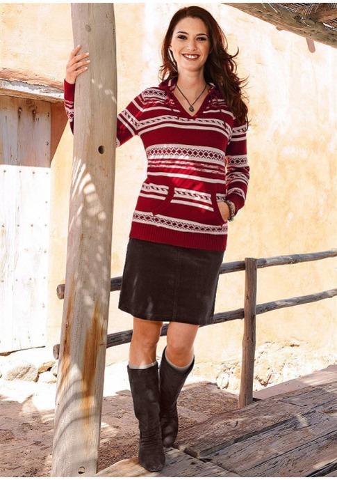 Вельветовая юбка-стрейч купить в Quelle, Вельветовая юбка-стрейч от